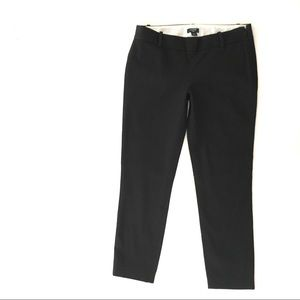 J Crew Factory City Fit Black Stretch Pants Size 4